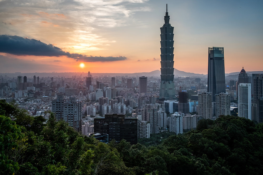 Le centre-ville de Taipei, vu d'Elephant Hill.