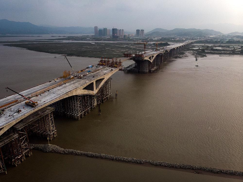 Un des nombreux ponts en constructions dans la seule ville de Fuzhou.