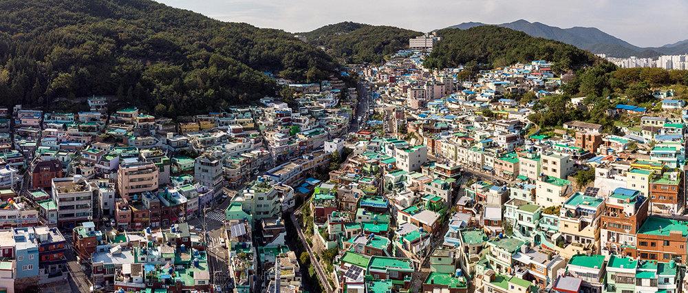 L'éclectique ville de Busan, au sud-est du pays.