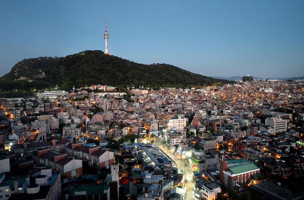 Paysage urbain de Séoul.