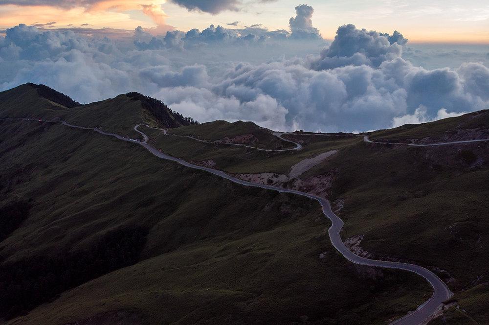 Le sommet du mont Wuling, à Taïwan.