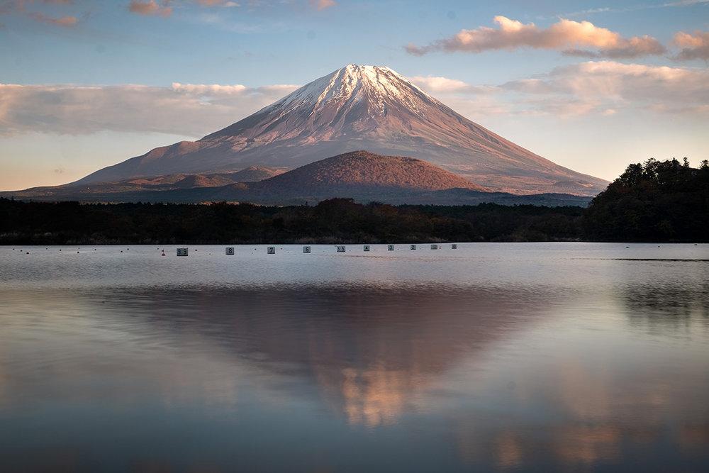Le fameux mont Fuji, symbole par excellence du Japon .