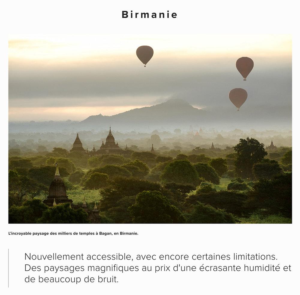 Exemple d'un petit résumé, ici de la Birmanie.