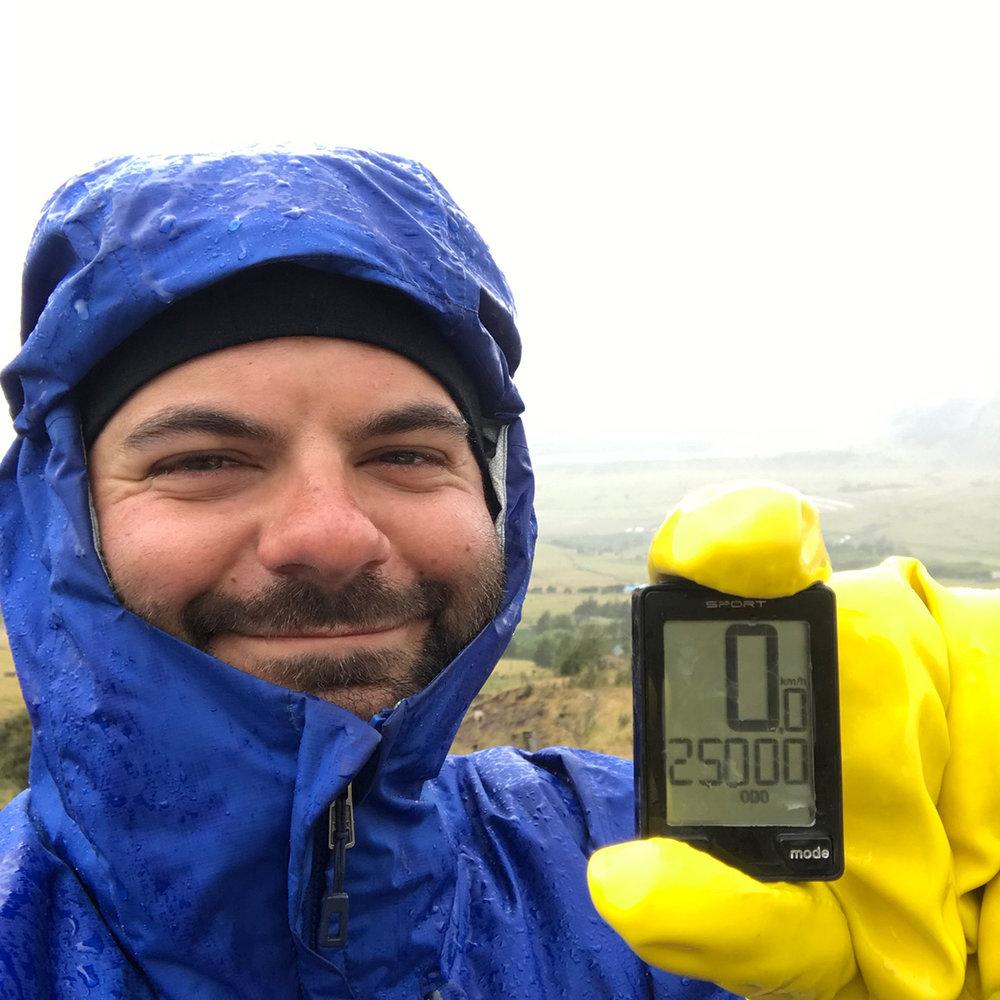 25 000 km, parfois même avec des gants de vaisselle !
