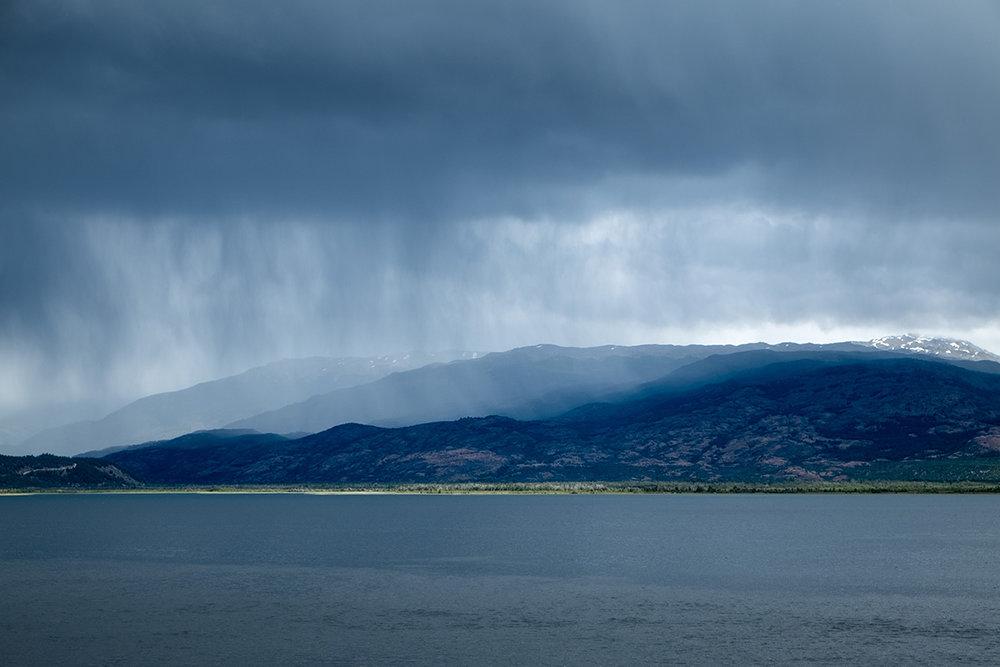 Précipitations sur le lac Chacabuco.