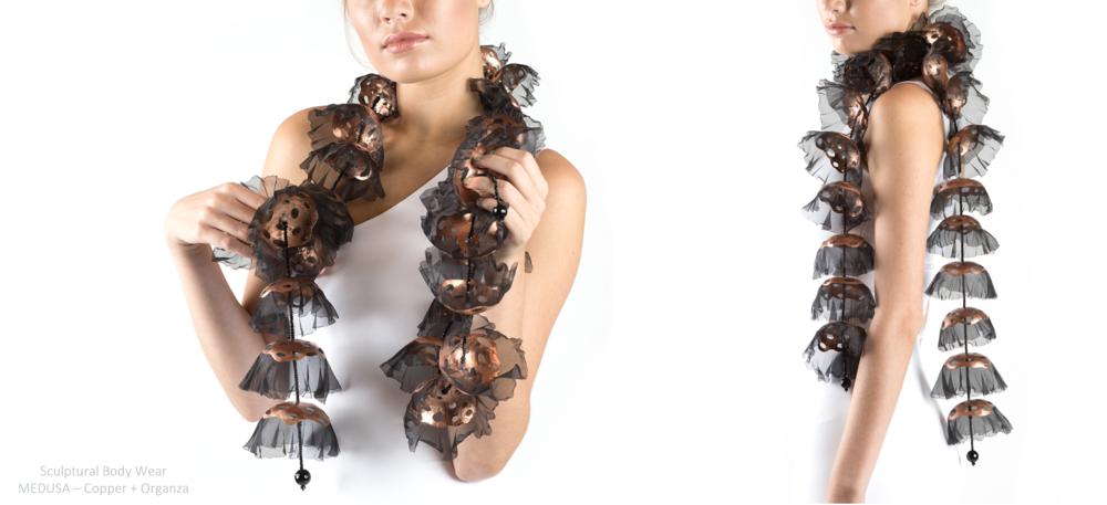 CherylEveAcostaSculpturalJewelryMedusaCopperBlackFabricScarf.png