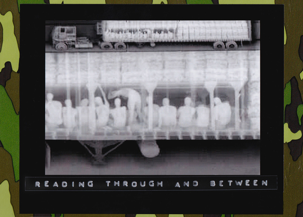 "Seen in this March 1 1999 X-ray photograph taken by Mexican authorities, are a wide shot, on top, and a close up version of human forms and cargo in a truck on Mexico's southern border with Guatemala. The image was made using a mobile truck scanning system, or ""Mobile Search"" equipment. (Photo: Reforma Archivo)"