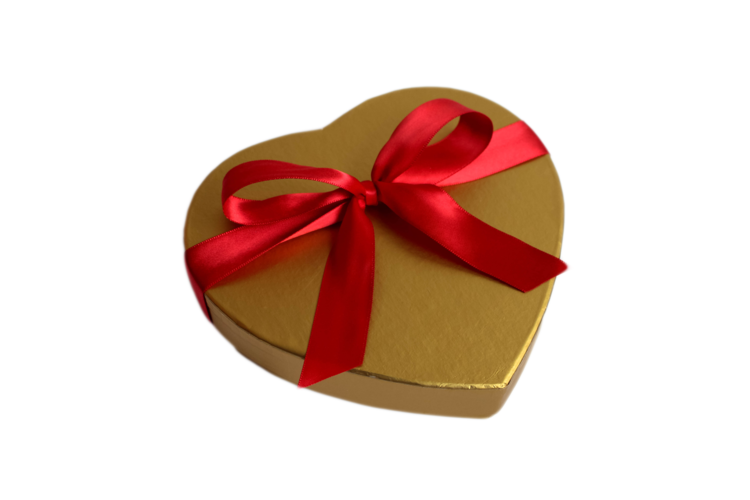 Okay Its Not Actually Filled With Gold But It Is Chocolate And Thats Kind Of The Same Thing This Small Heart Shaped Gift Box
