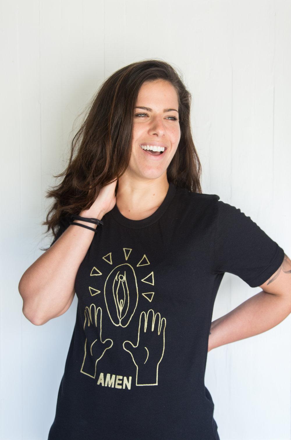 Bianca Pussy Praise shirt Gold-2.jpg