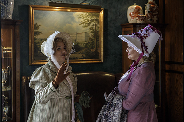 MONZA, ITALY - OCTOBER 21: People … as they attend a meeting of Janeites at Hotel de la Ville on October 21, 2018 in Monza, near Milan, Italy. Janeites are devotees of the life and work of British novelist Jane Austen, and more generally of the Regency era. (Photo by Emanuele Cremaschi/Getty Images)