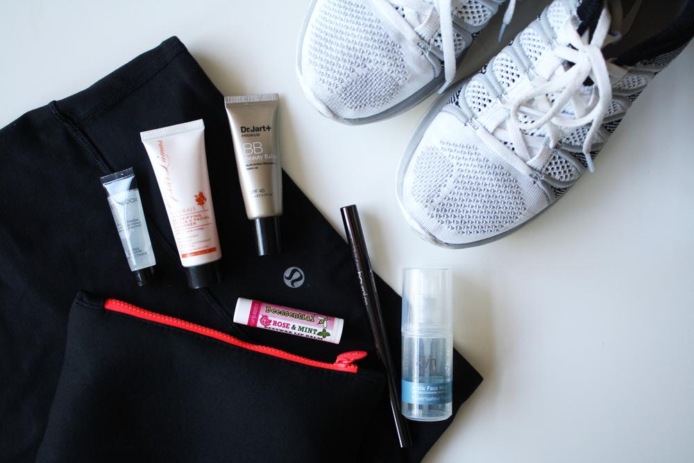 workout beauty essentials