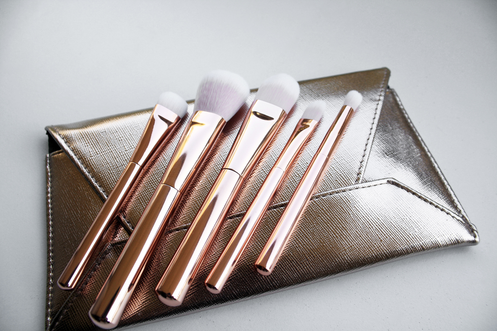 dermstore Rose Gold Prestige Brush Set