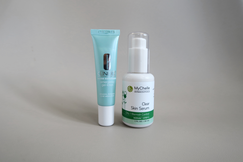 clinique emergency gel-lotion mychelle skin clear serum