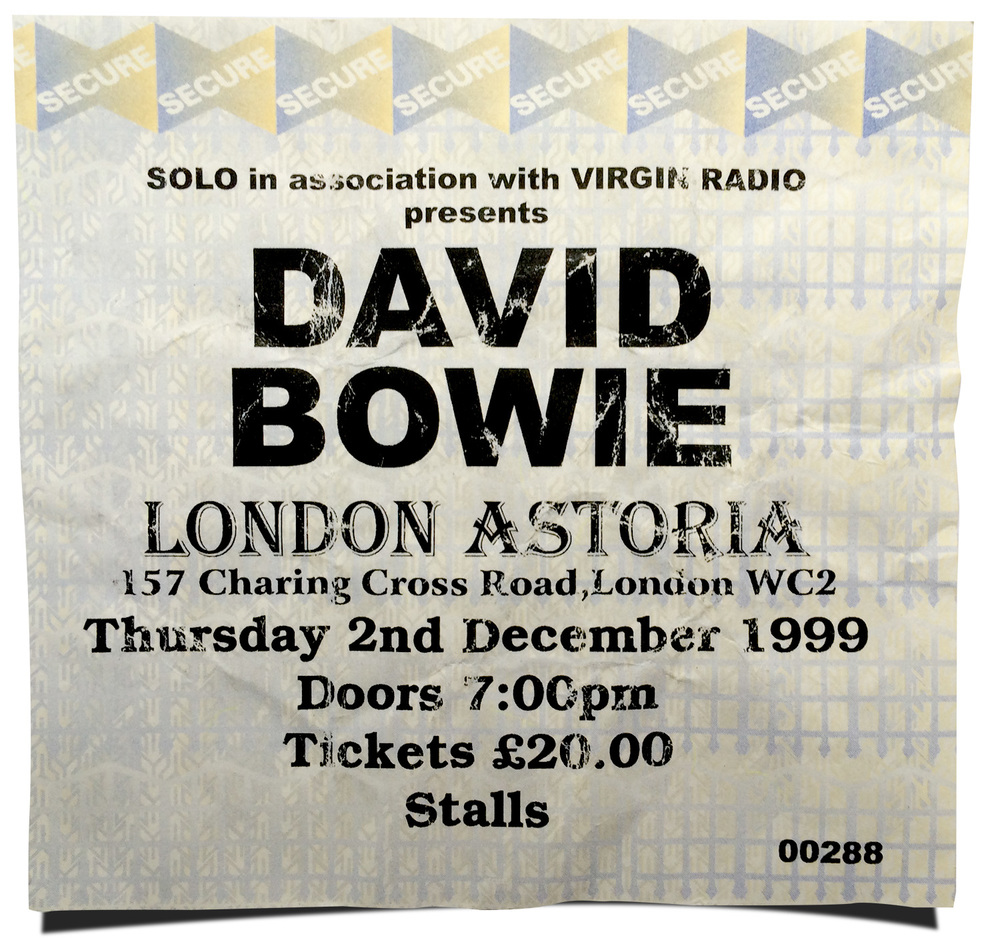 Ticket from the Astoria gig