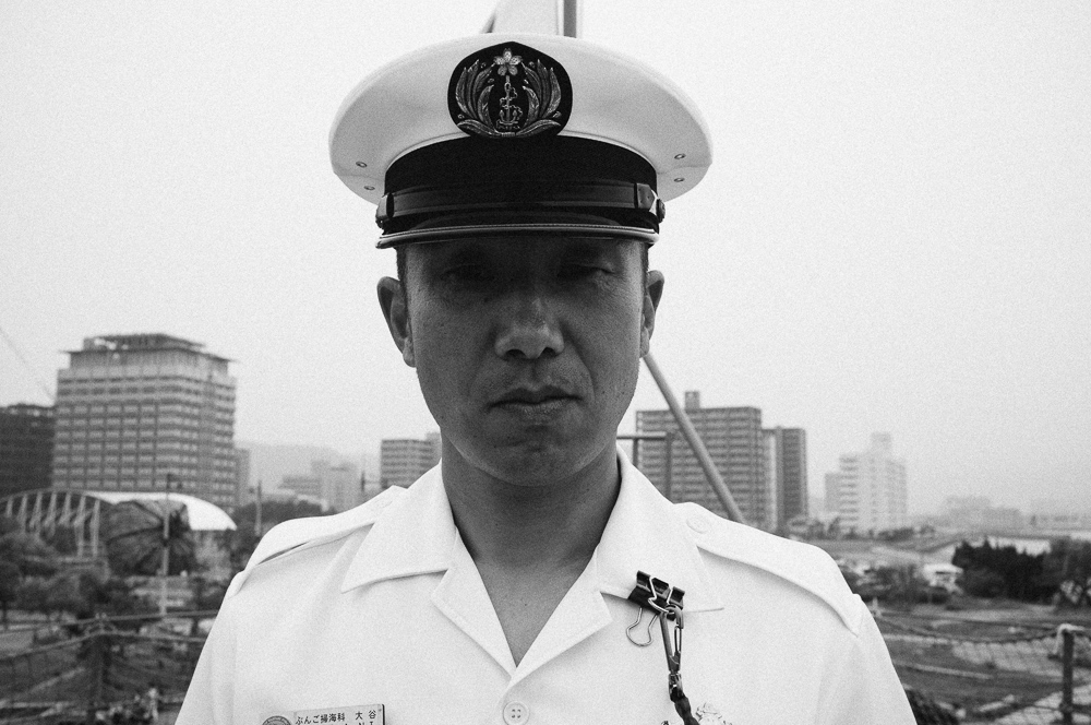 A Sailor from a Japanese Minesweeper. I have never seen a cleaner ship, it was spotless, the crew were great too.