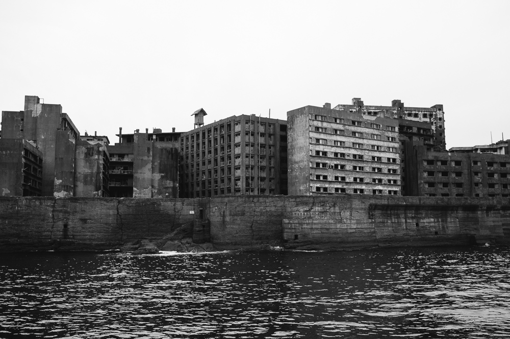 Gunkanjima, by the mid 50's it had 6000 inhabitants, the most densely populated place on earth.