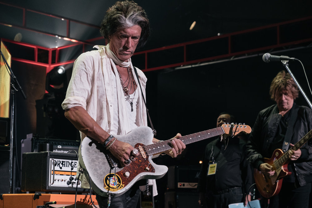 Joe Perry at soundcheck ,  Japan Classic Rock Awards