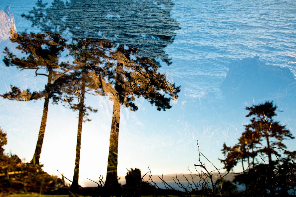 Saxe Point park double exposure