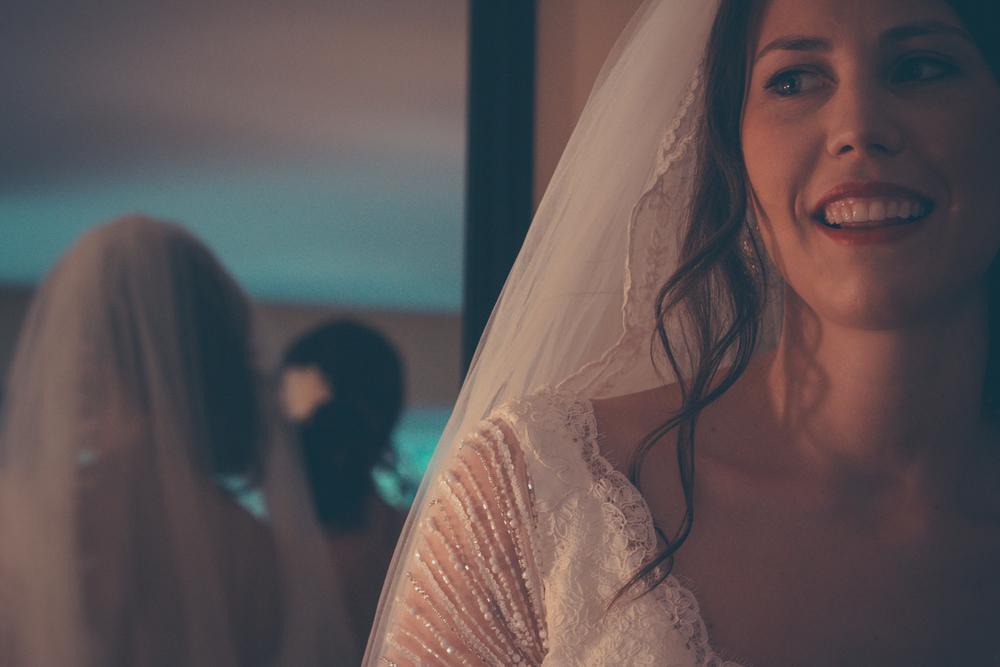 Bridal portrait at Rockwater Secret cove elopement and wedding spot