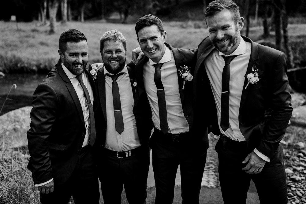 Groomsmen portrait during New Zealand wedding day