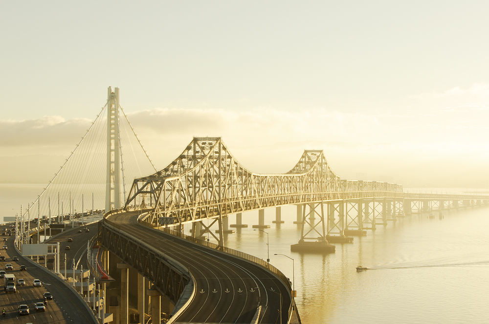 East Span of the Bay Bridge at Dawn