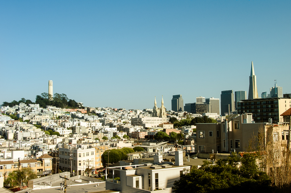 Coit Tower, Saints Peter & Paul Cathedral, Transamerica Pyramid
