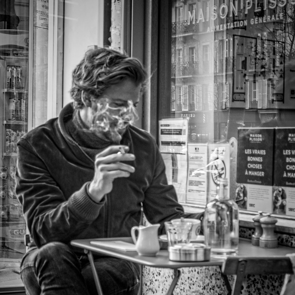 Cigarettes & Coffee in Le Marais