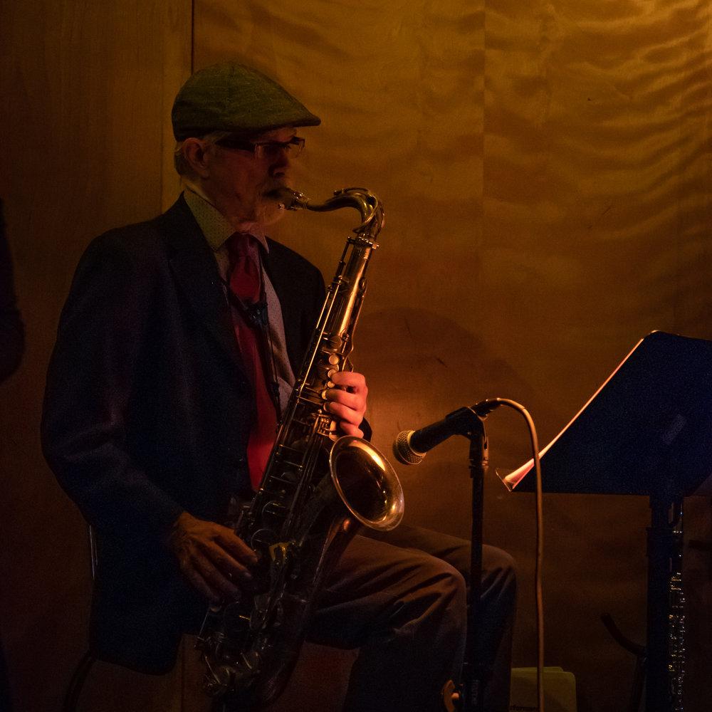 Charlie McCarthy on Saxophone