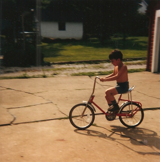Rockin a banana seat on my first bike - age 5