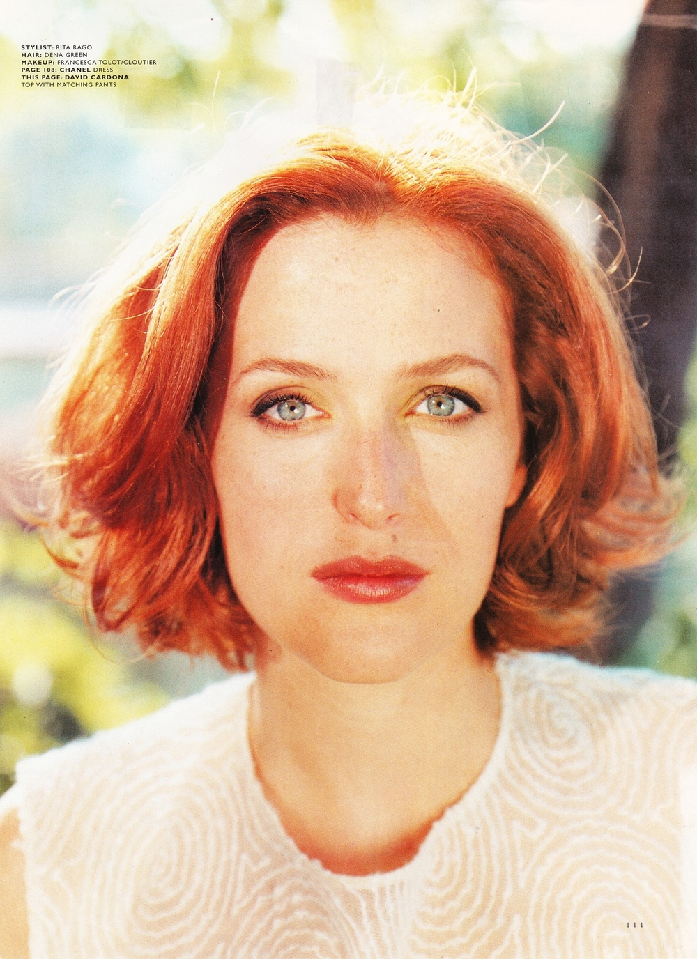 LOS ANGELES MAGAZINE - Gillian Anderson in David Cardona