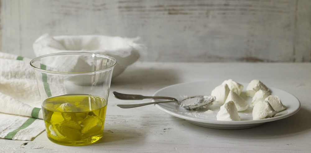 Labneh Spheres Preserved in Olive Oil from Yogurt Culture by Cheryl Sternman Rule (Houghton Mifflin Harcourt, 2015) | Photography © Ellen Silverman