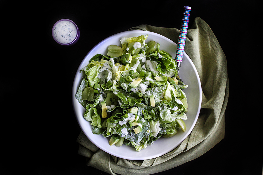 Tara's Green Grape and Avocado Salad with Lime Yogurt Dressing