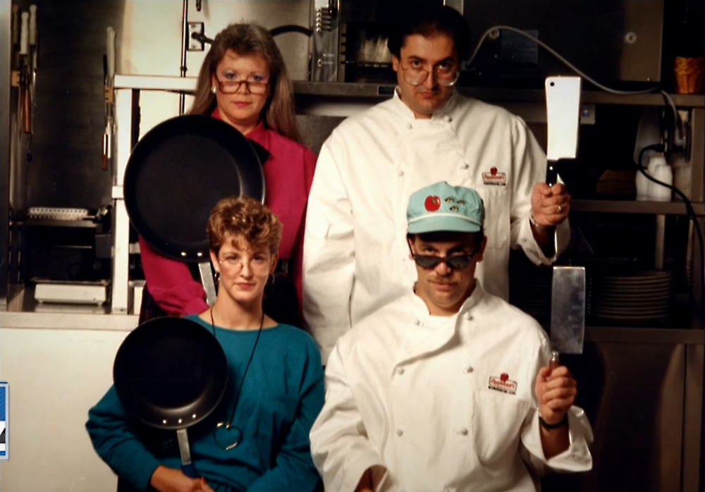 Ron Marks (upper right) with his R&D Team at Applebee's International