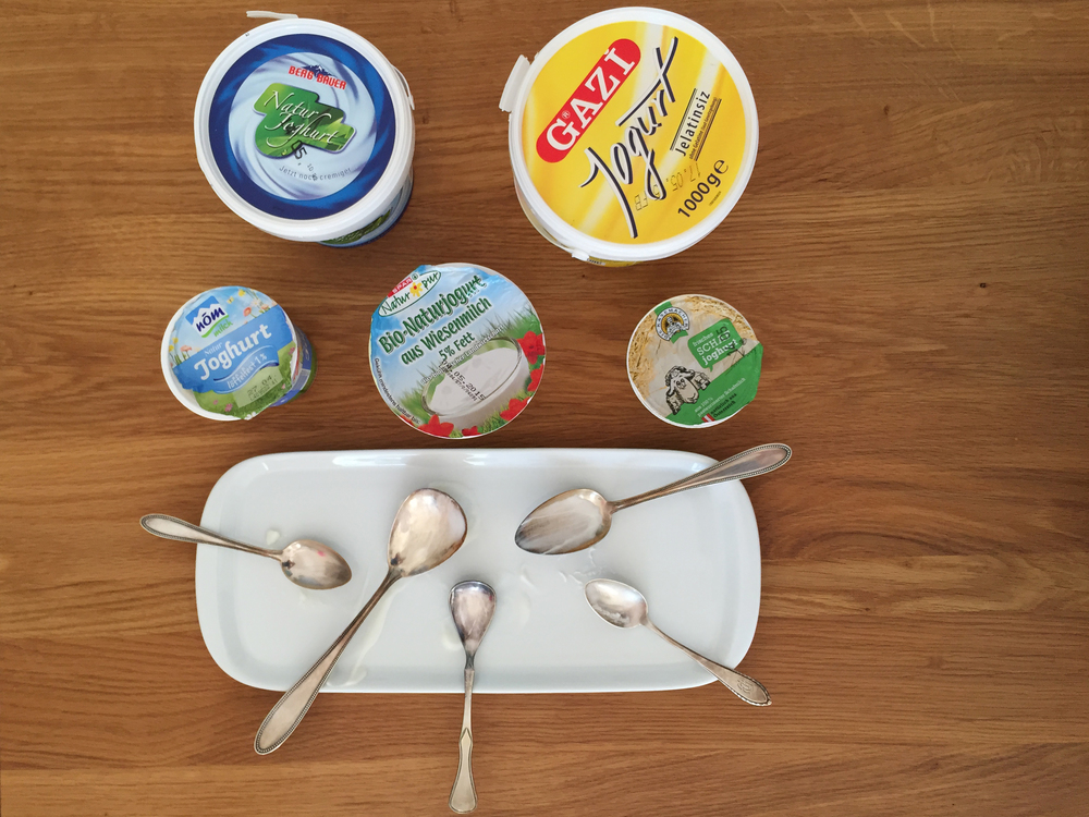 Austrian Yogurt Taste Test (Before)