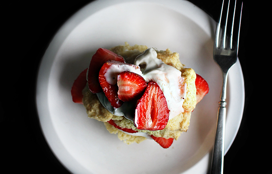 Bake | Strawberry-Ginger Shortcakes with Whey