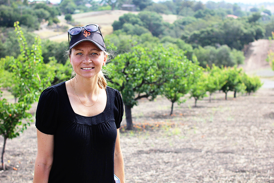 Swede Andrea Gudmundsson in Northern California, where she now resides.