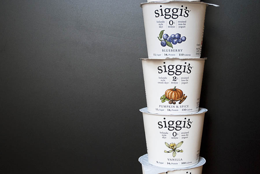 A few varieties of of Siggi's Icelandic Skyr