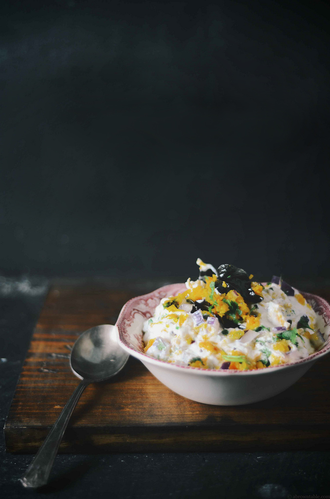 Nik Sharma's Pumpkin Raita on http://www.teamyogurt.com/