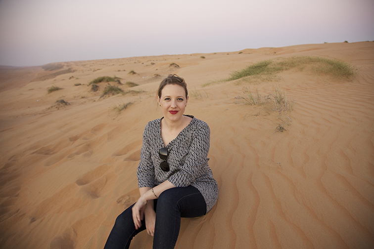Author Felicia Campbell of  The Food of Oman .  Image courtesy of AM Universal.