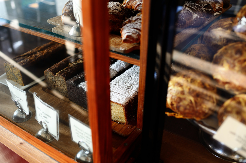 Tartine front case displaying tea cakes and pastries | Photograph courtesy Tartine Bakery & Postcard Communications.