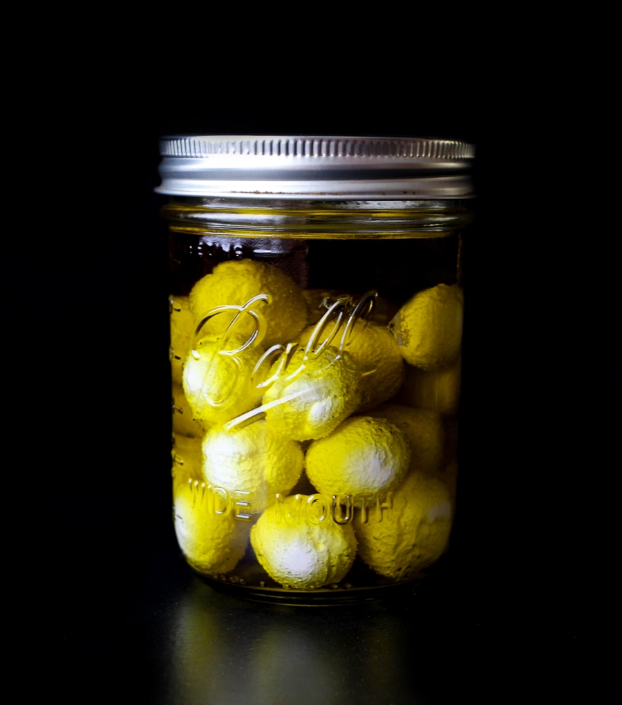 Party-Ready Labneh Spheres in Olive Oil | Photograph ©  Cheryl Sternman Rule