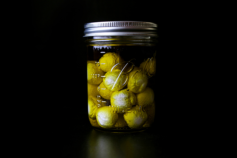Labneh Spheres in Olive Oil