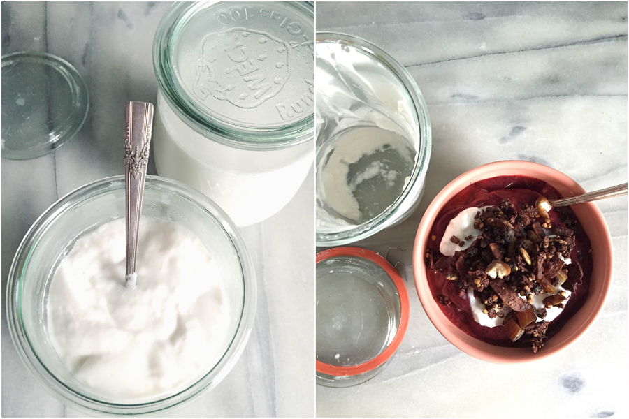 Tamika's Homemade Coconut Milk Yogurt and a Smoothie Bowl | Photographs © Tamika Adjemian