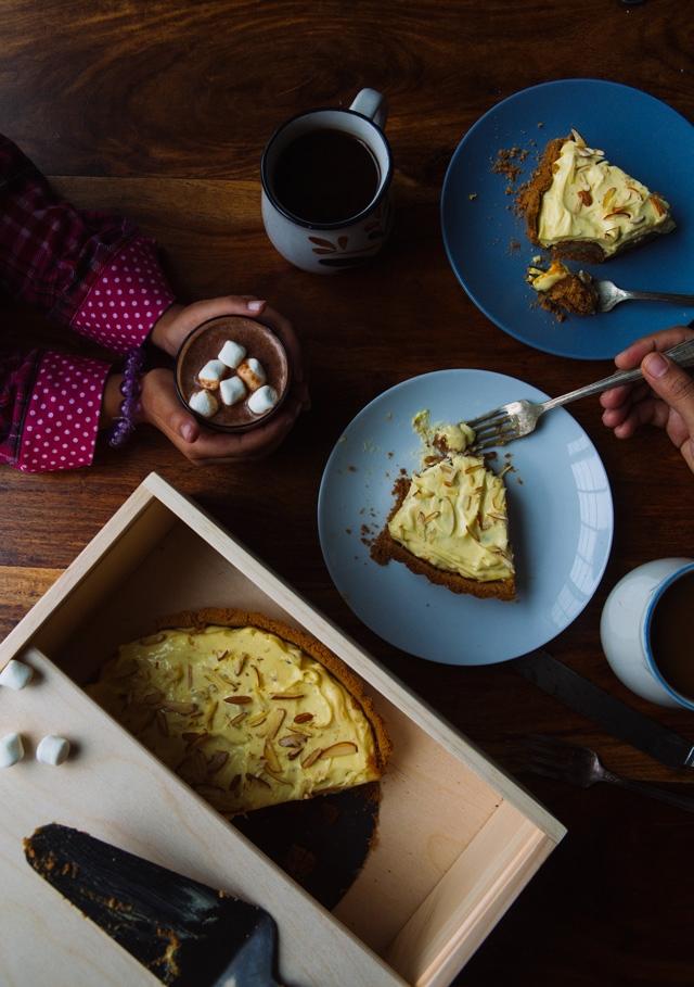 Prerna's Gulab Jamun and Saffron Yogurt Tart | Photograph © Prerna Singh