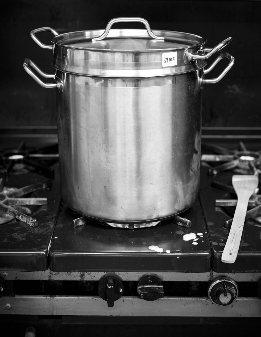 One of Stockpots Used by the Somerville Yogurt Making Co-Op | Photograph ©  Michael Piazza Photography