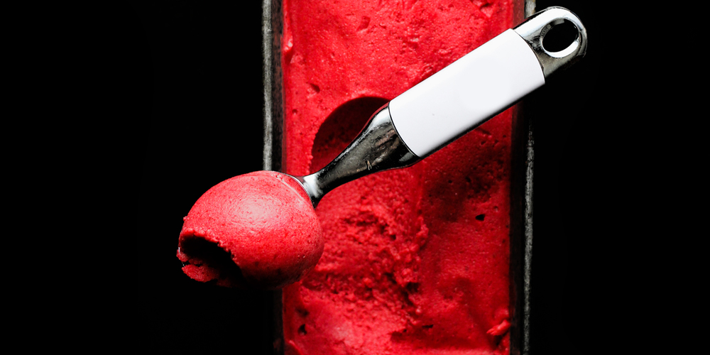 Plum Balsamic Whey Sorbet