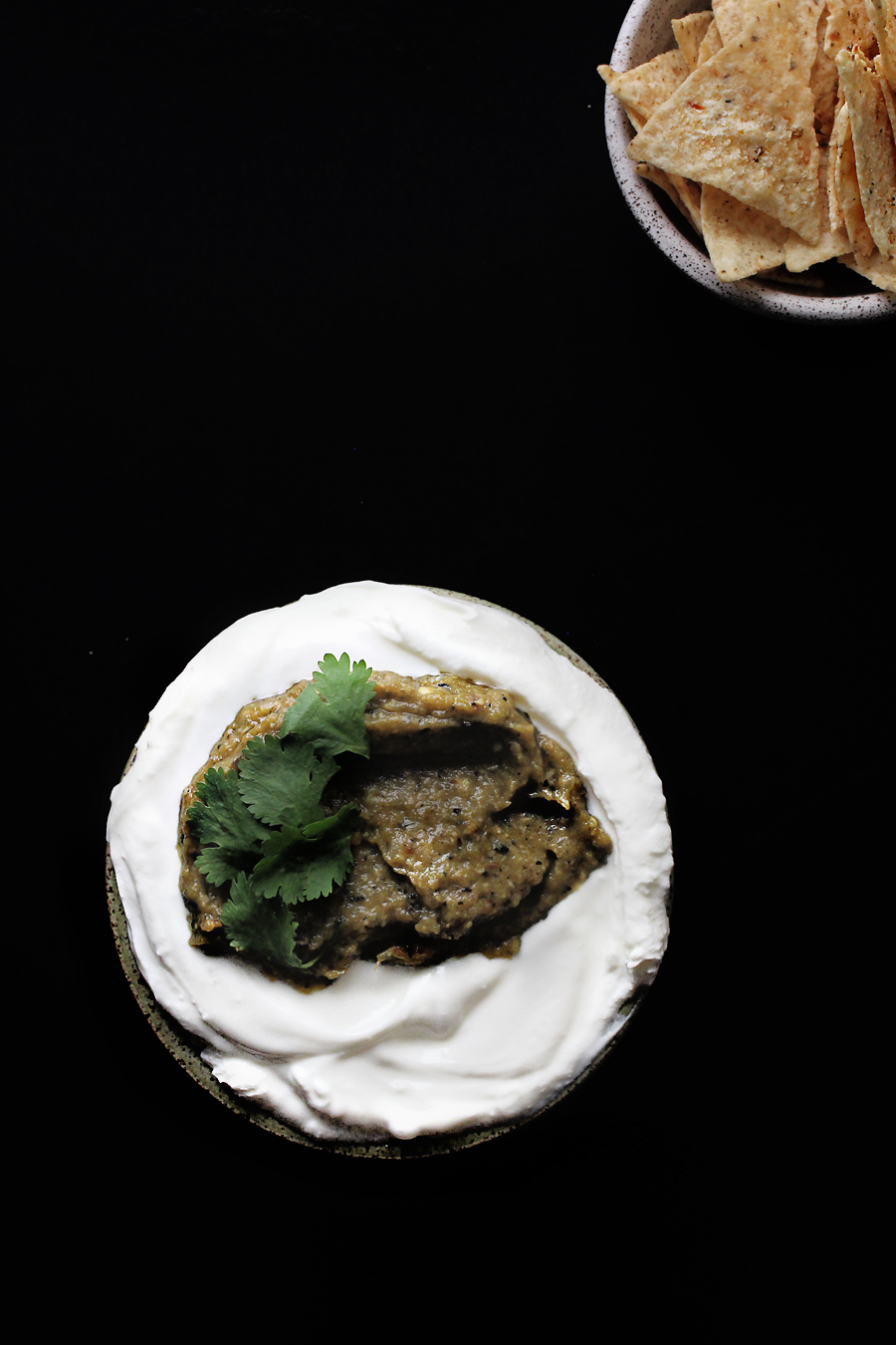 Hatch chile Greek yogurt dip