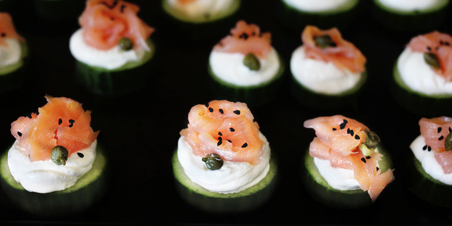 Fast Fix | Cucumber Bites with Greek Yogurt and Lox