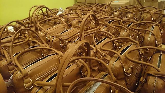 A sea of Hampton Bags being thoroughly inspected all through the weekend!