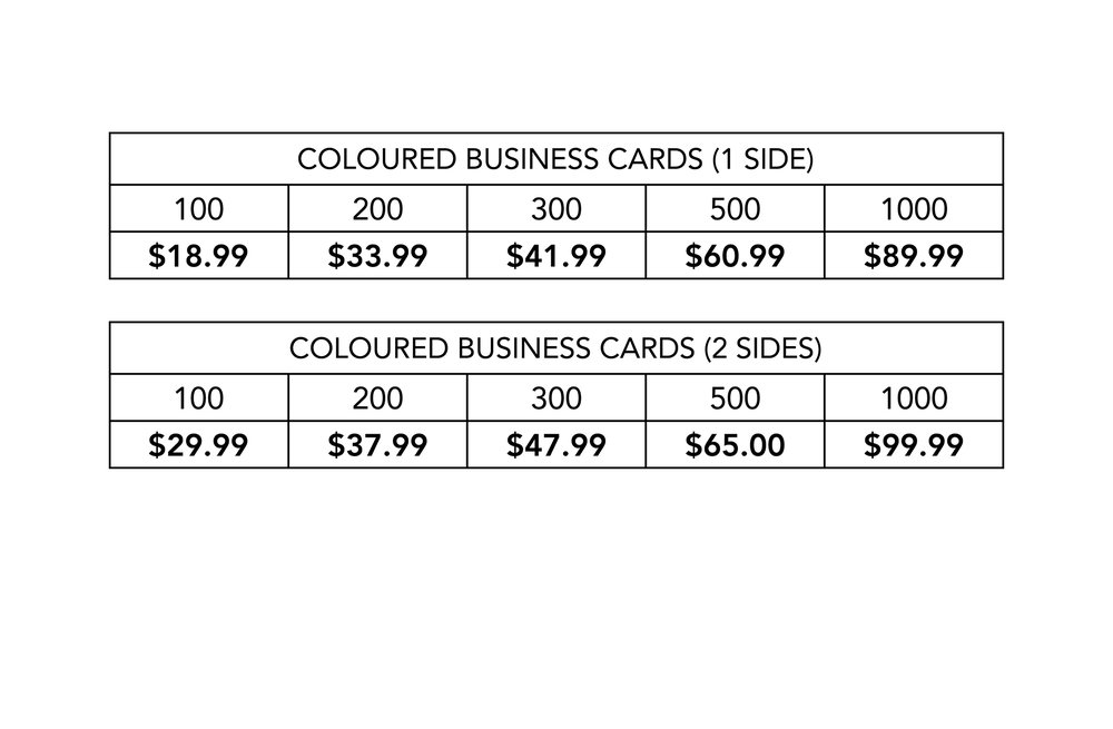 Christian Horizons Ink Printing Prices Business Cards